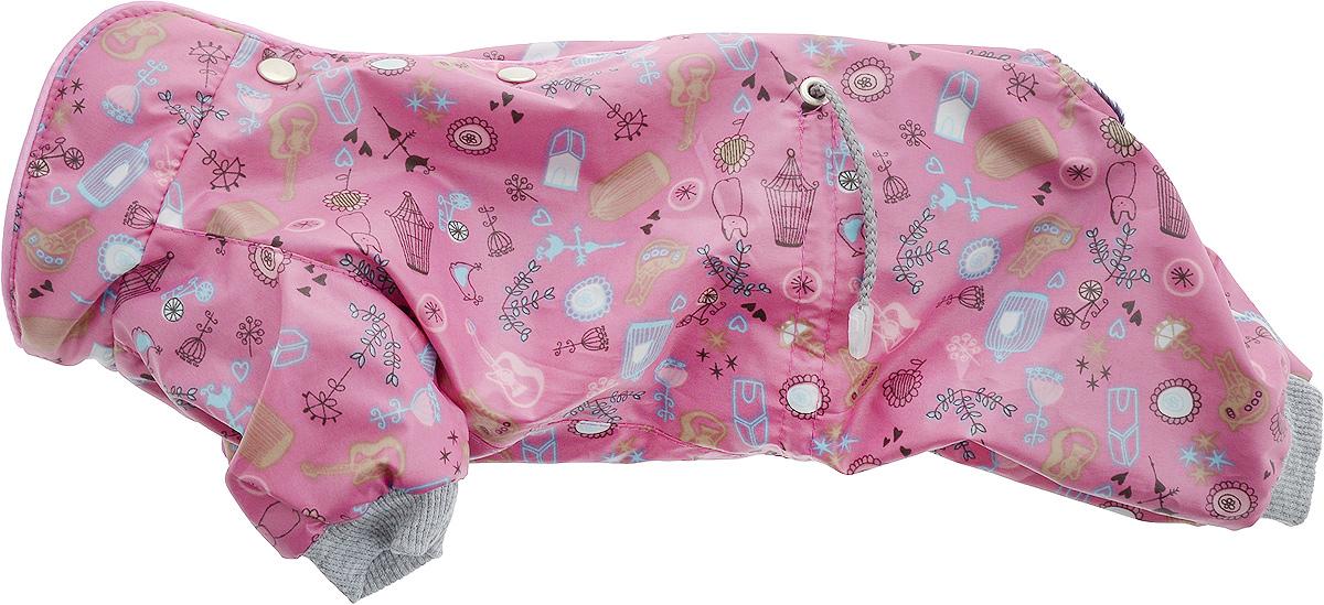 Комбинезон для собак Yoriki Гитара, для девочки. Размер M. 460-220120710Теплый комбинезон для собак Yoriki Гитара отлично защитит вашего питомца в холодную погоду от осадков и ветра. Комбинезон изготовлен из водоотталкивающего полиэстера. Утеплитель из искусственного меха сохранит тепло и обеспечит уют во время зимних прогулок. Модель оформлена металлическими кнопками и дополнена утягивающими шнурками в поясе. Благодаря такому комбинезону вашему питомцу будет комфортно наслаждаться прогулкой. Длина по спинке: 24 см.Объем груди: 38-42 см.