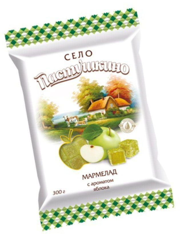 """Продукция ТМ """"Село Пастушкино"""" — это разнообразные кондитерские изделия для всей семьи. Мармелад - сладость на основе пиктина с нежными нотками яблока. Не сожержит ГМО, искусственных красителей и ароматизаторов."""