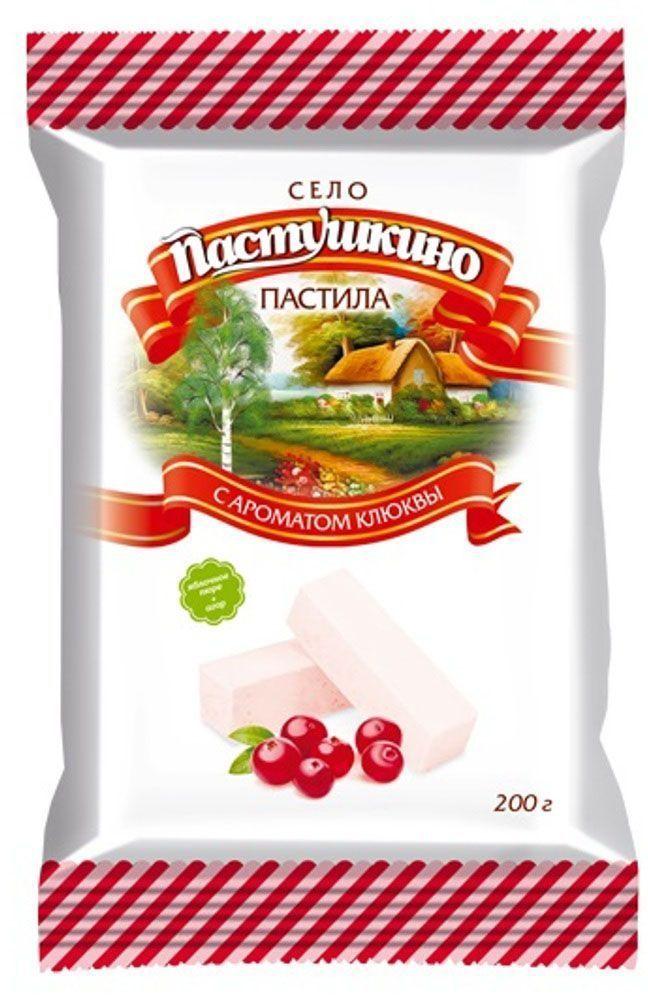 Село Пастушкино пастила с ароматом клюквы, 200 г