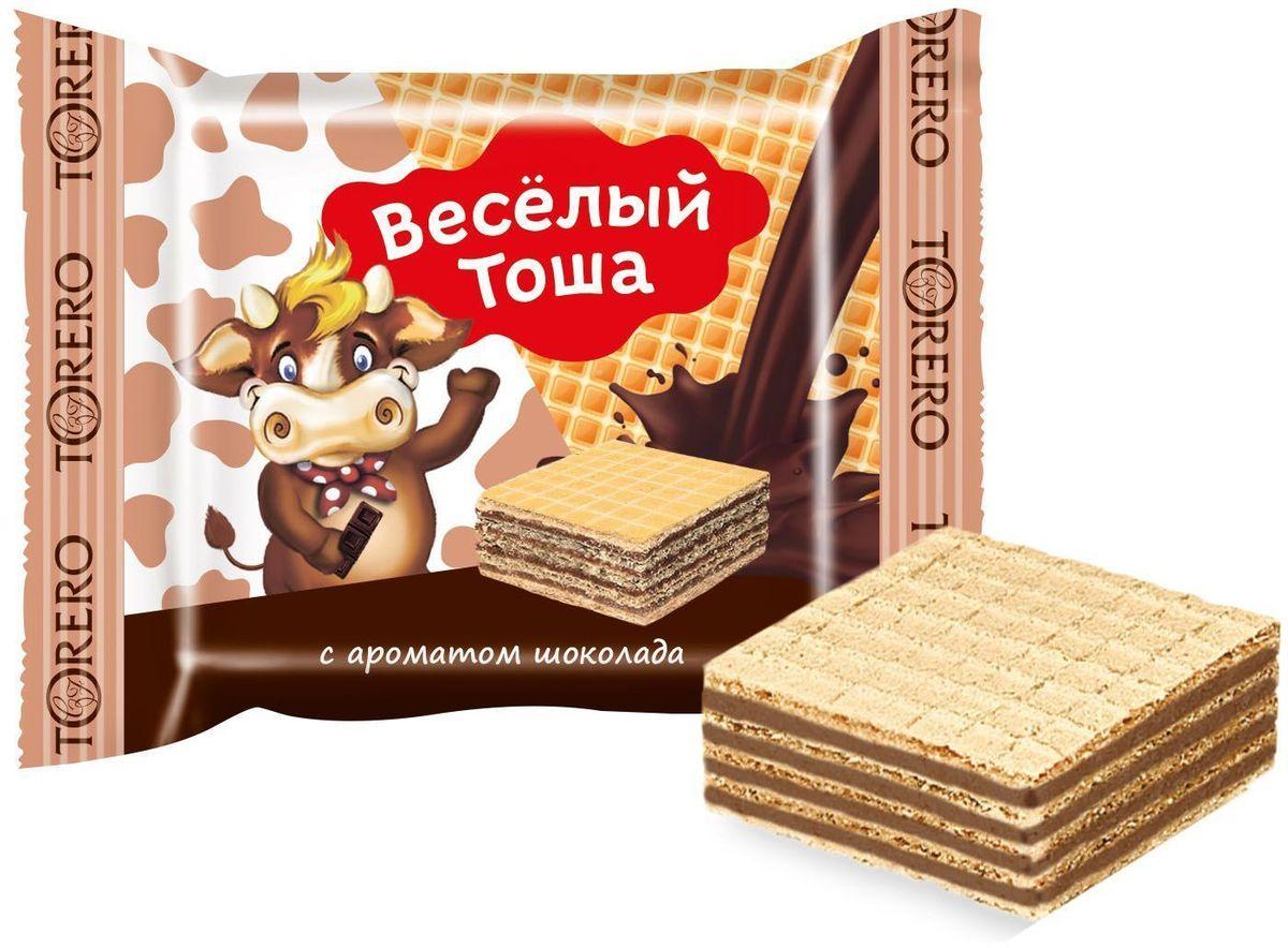 Веселый Тоша десерт вафельный с ароматом шоколада, 250 г