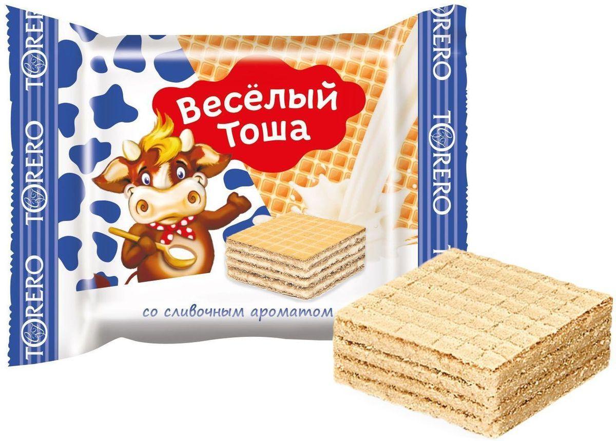 Веселый Тоша десерт вафельный со сливочным ароматом, 250 г4603593007447Вкусные сладкие вафельные десерты Веселый Тоша в удобной порционной упаковке - заряд бодрости для детей и взрослых.