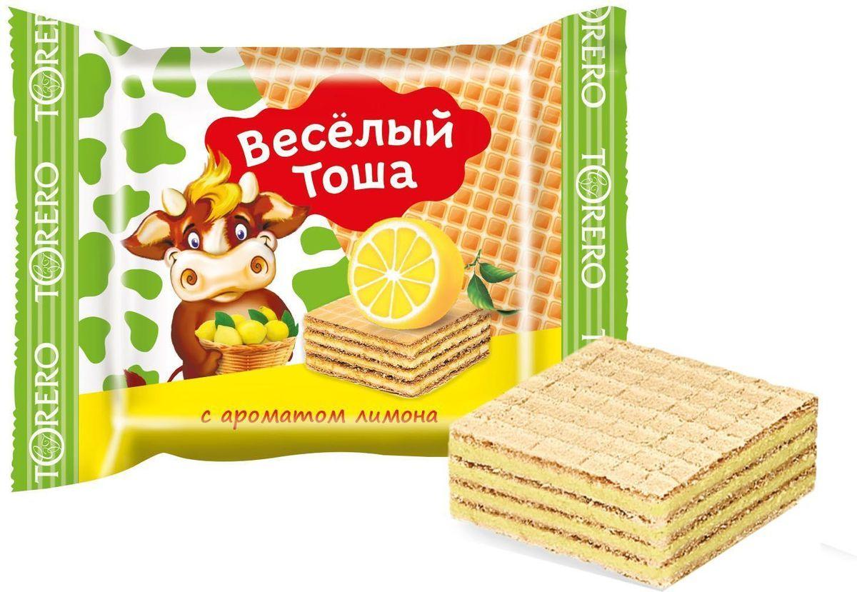 Веселый Тоша десерт вафельный с ароматом лимона, 250 г