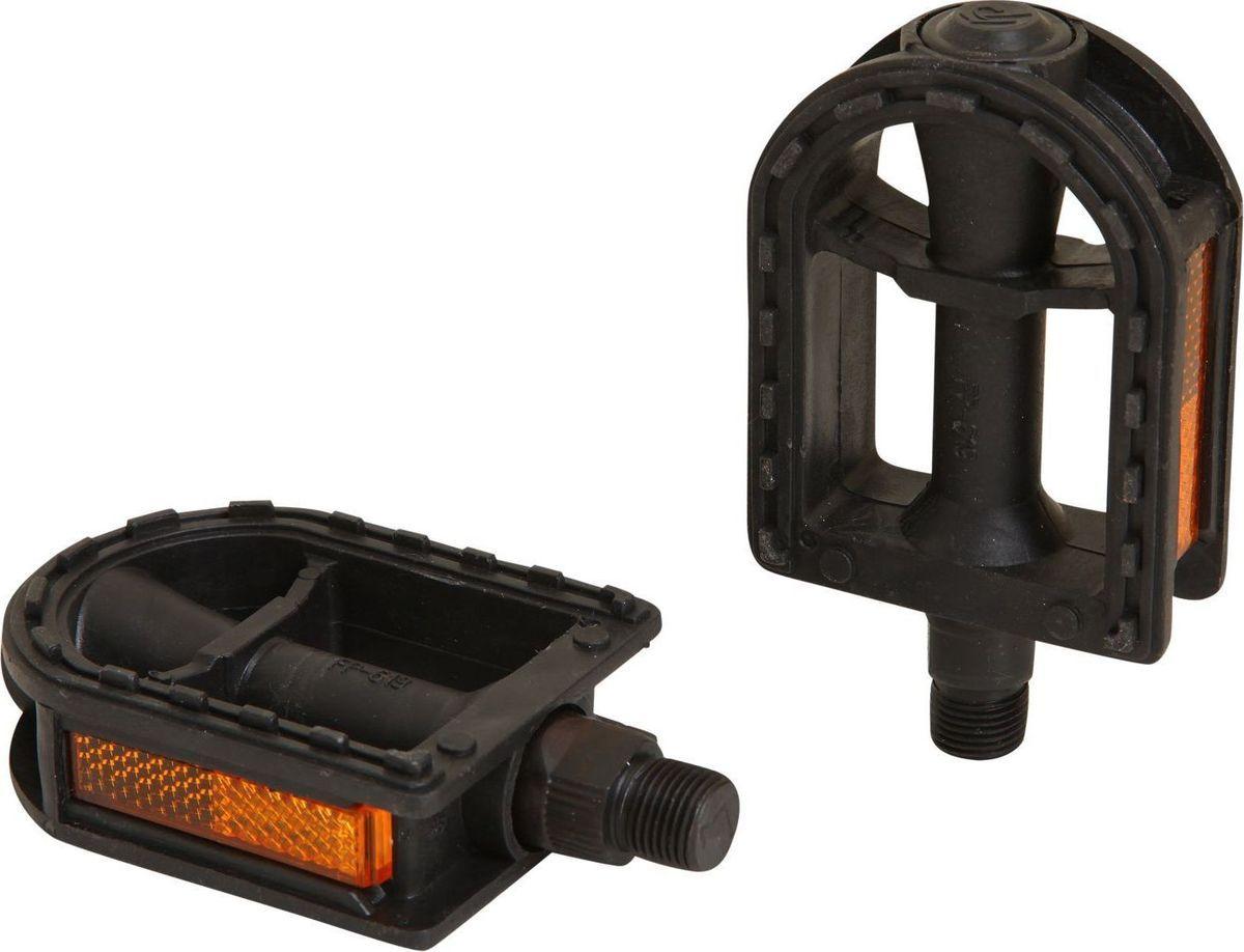 Педали STG FP-619, ось 9/16, 2 штWRA523700Высокопрочные цельные педали STG FP-619 выполнены из прочного пластика и оснащены встроенными светоотражателями для безопасности. Прочная ось выполнена из пластика.Ось: 9/16
