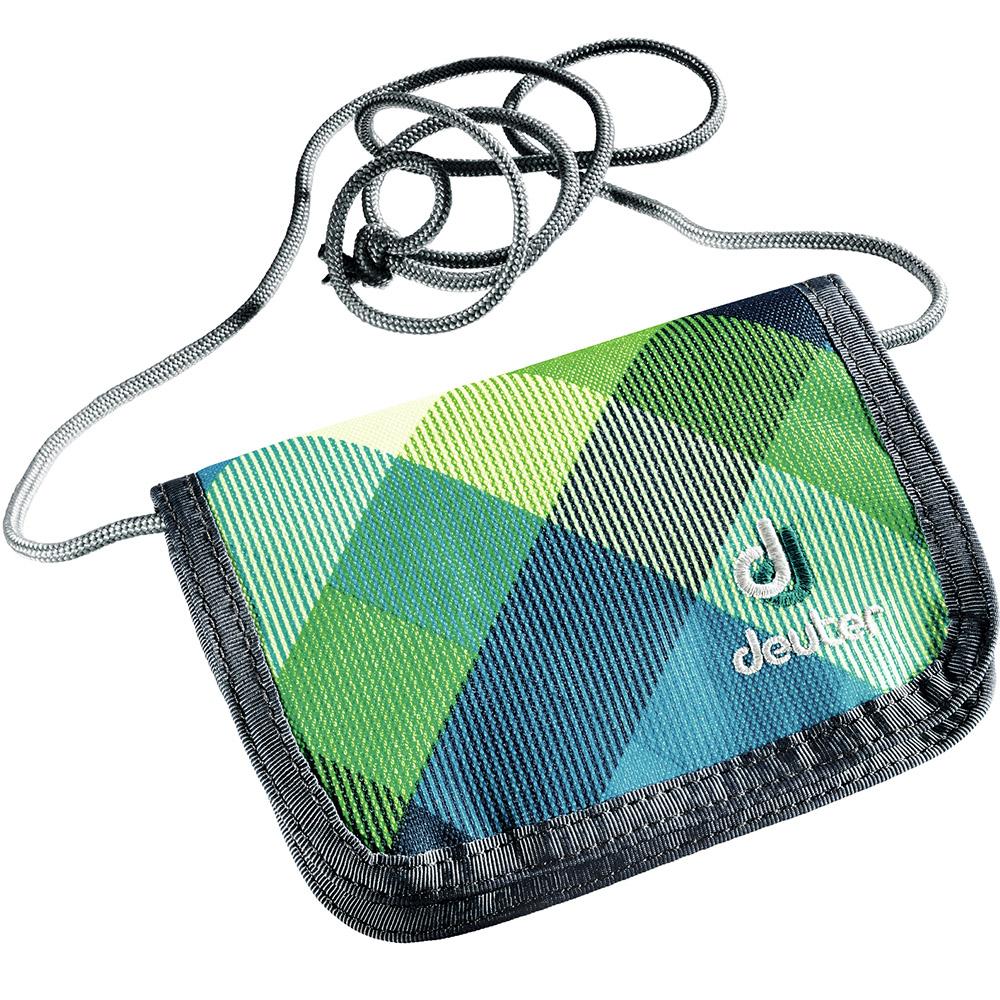 Кошелек Deuter Клетка, цвет: зеленый. 3890215-32161-022_516Кошелек с липучкой, на шнурке. Размер: 1*14*10 смВес: 40 г
