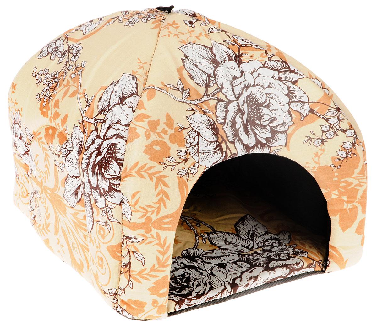 Лежак для животных Elite Valley Юрта, цвет: бежевый, 33 х 33 х 30 см. Л3/2101246Лежак Elite Valley Юрта непременно станет любимым местом отдыха вашего домашнего животного. Изделие изготовлено из бязи, а наполнитель выполнен из поролона. Такой материал не теряет своей формы долгое время. На таком лежаке вашему любимцу будет мягко и тепло. Он даст вашему питомцу ощущение уюта и уединенности, а также возможность подремать, отдохнуть и просто спрятаться.