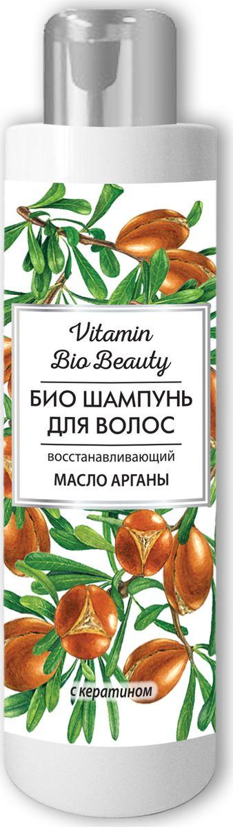 Vitamin Bio Beauty Шампунь масло арганы восстанавливающий, 250 млSatin Hair 7 BR730MNVitamin Bio Beauty Шампунь масло арганы восстанавливающий 250мл деликатно очищает волосы. Роскошный микс из арганового масла и кератина обеспечивает интенсивное восстановление, придает волосам сияющий блеск и гладкость. Драгоценное масло арганы является магическим эликсиром красоты, обеспечивающим экстрасильное восстановление волосяной структуры. Кератин, или, как его называют, «жидкая форма волос», заполняет поврежденные участки на волосе, воссоздает натуральный кератиновый слой. Волосы сильные, крепкие и защищенные. Для достижения лучшего эффекта используйте вместе с бальзамом «Масло арганы».