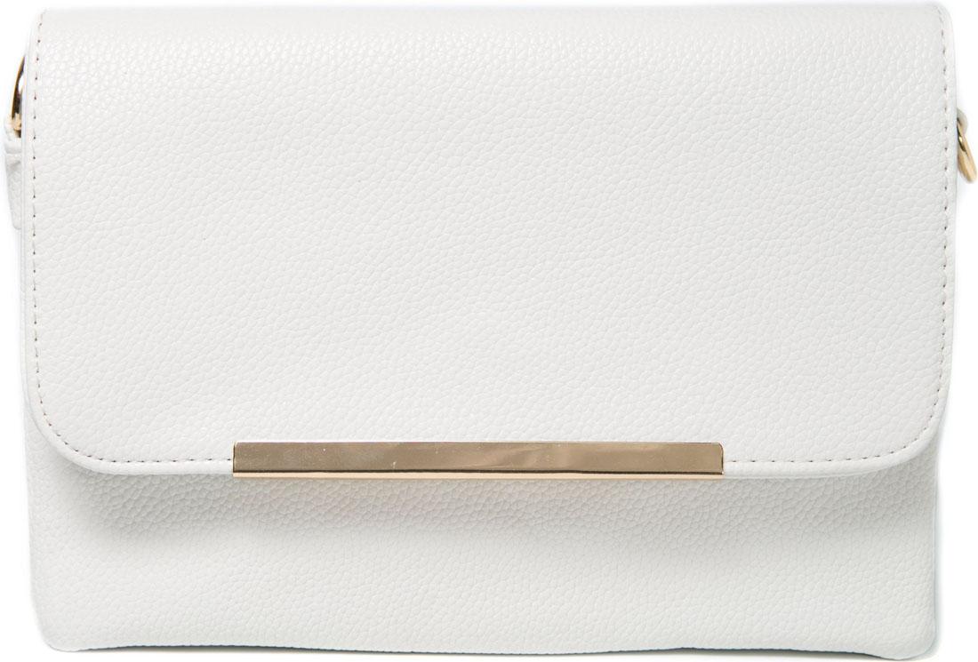 Клатч женский Mitya Veselkov, цвет: белый. LADYBAG6-16ML597BUL/DСтильная сумка Mitya Veselkov, несмотря на свой компактный размер, порадует вас своим удобством. Три вместительных основных отделения на молнии. Карман на молнии на тыловой части. Оригинально декорирована металлической пластиной. Закрывается на удобный магнит. Размер: 23X16,5X4 см.