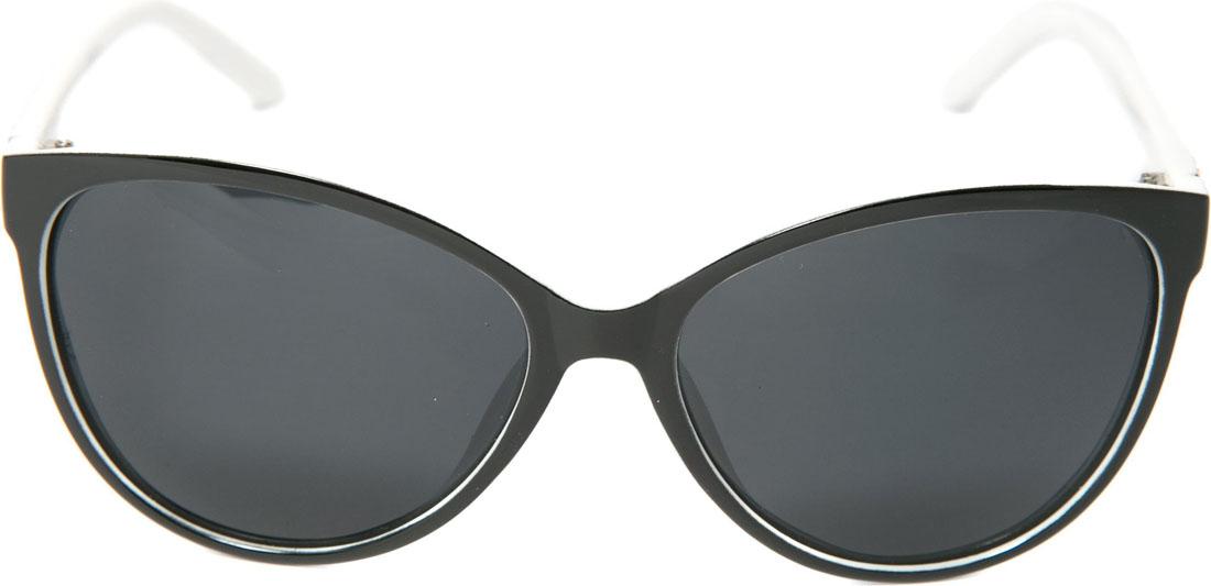 Очки солнцезащитные женские Mitya Veselkov, цвет: черный, белый. OS-2691-022_516Стильные солнцезащитные очки станут прекрасным и модным аксессуаром для Вас и защитят от УФ лучей.