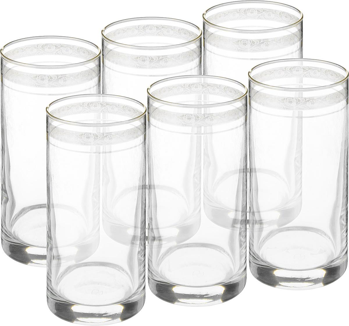 Набор стаканов Гусь Хрустальный Нежность, 350 мл, 6 шт. TL34-402VT-1520(SR)Набор Гусь-Хрустальный Нежность состоит из 6 стаканов с толстым дном, изготовленных из высококачественного натрий-кальций-силикатного стекла. Изделия оформлены красивым зеркальным покрытием и широкой окантовкой с цветочным узором. Стаканы предназначены для подачи виски. Такой набор прекрасно дополнит праздничный стол и станет желанным подарком в любом доме. Диаметр стакана (по верхнему краю): 6,3 см. Высота стакана: 15,5 см.