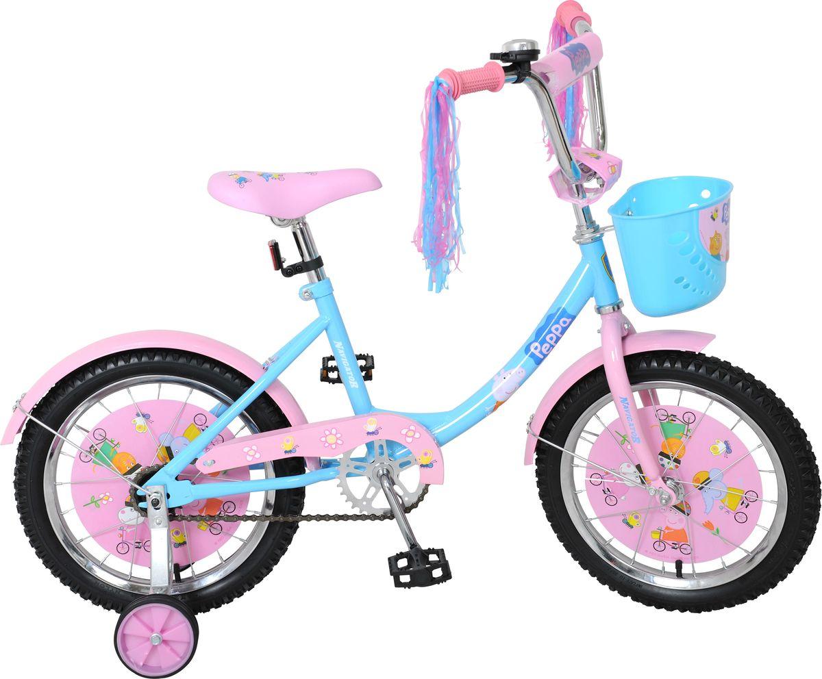 Велосипед детский Navigator Peppa Pig, цвет: розовый, 16. ВН16100КAIRWHEEL Q3-340WH-BLACKДетский велосипед с ярким дизайном и популярной лицензией Peppa Pig.