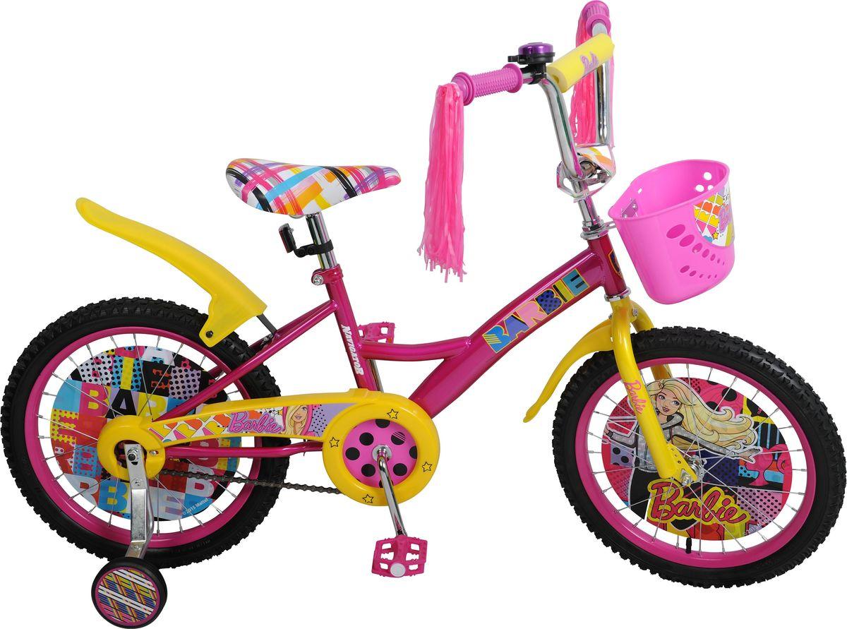 Велосипед детский Navigator Barbie, цвет: красный, 18. ВН18075КKBO-1014Детский велосипед с ярким дизайном и популярной лицензией Barbie