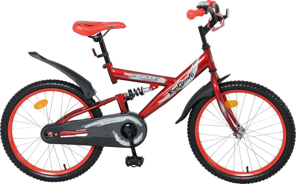 Велосипед детский Top Gear Юниор Racer, цвет: красный, 20. ВН20126WRA523700Top Gear Junior - коллекция люксового сегмента, велосипеды взрослого качества и конструкции - специально для детей. Продукция Top Gear Junior обладает всеми улучшенными характеристиками Navigator, а также своими уникальными особенностями. Велосипеды выгодно выделяются, благодаря яркому цветному дизайну седла и вставок в колёса и разнообразным дополнительным аксессуарам.