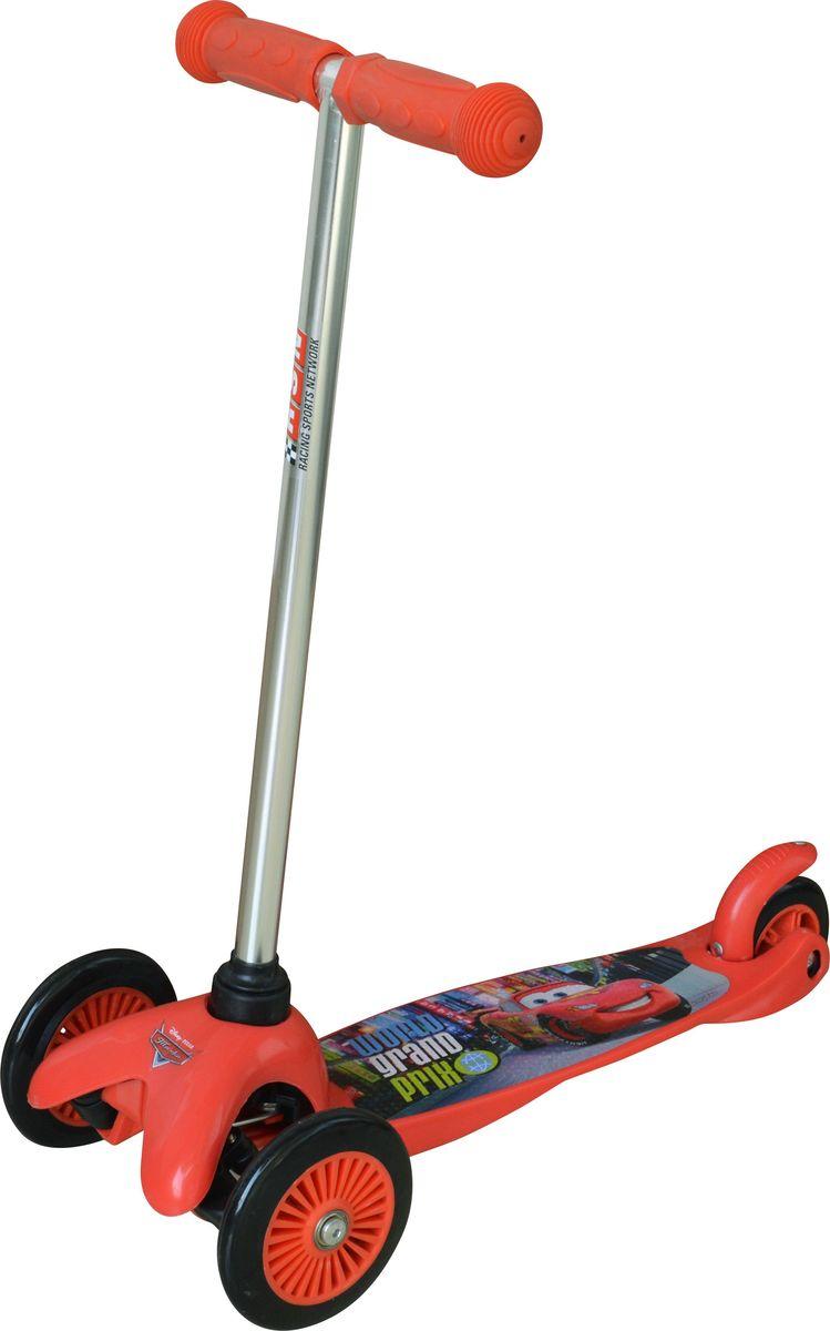 Самокат детский трехколесный 1 Toy Тачки, цвет: красный. Т58415Т58415Самокат трехколесный, управляется наклоном