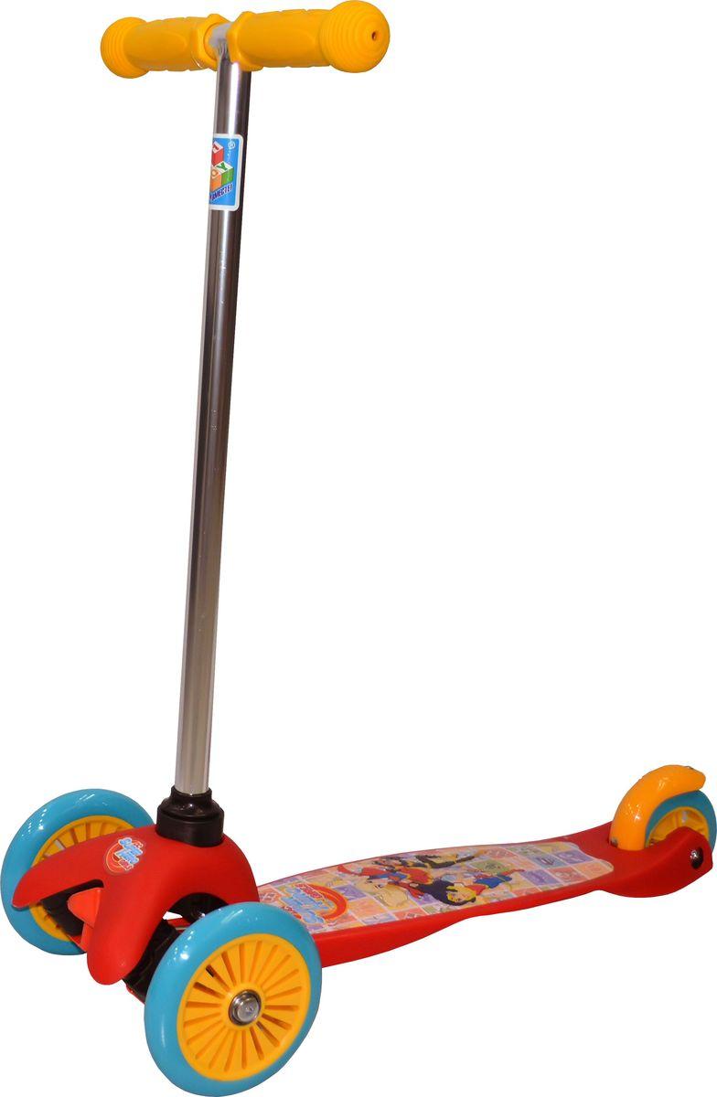 Самокат детский трехколесный 1 Toy Super Hero Girls, цвет: красный. Т59562KBO-1014Самокат трехколесный, управляется наклоном