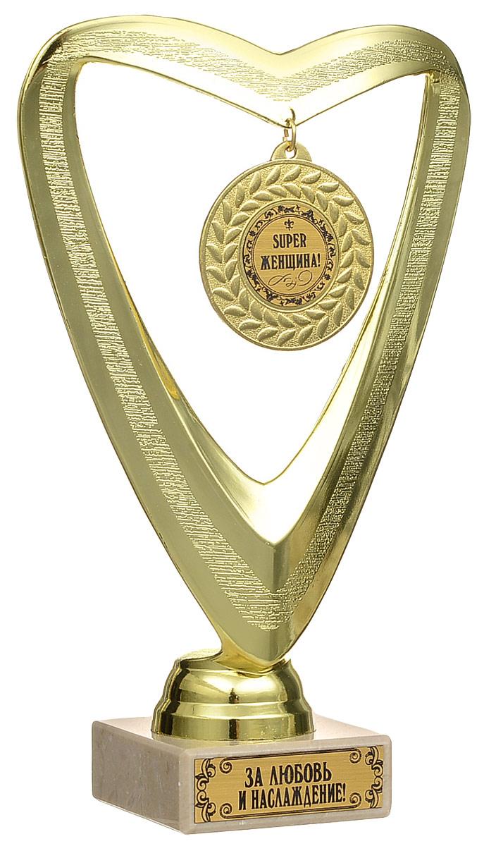 Кубок сувенирный Super Женщина! кубок город подарков руководитель лучший в профессии высота 18 см