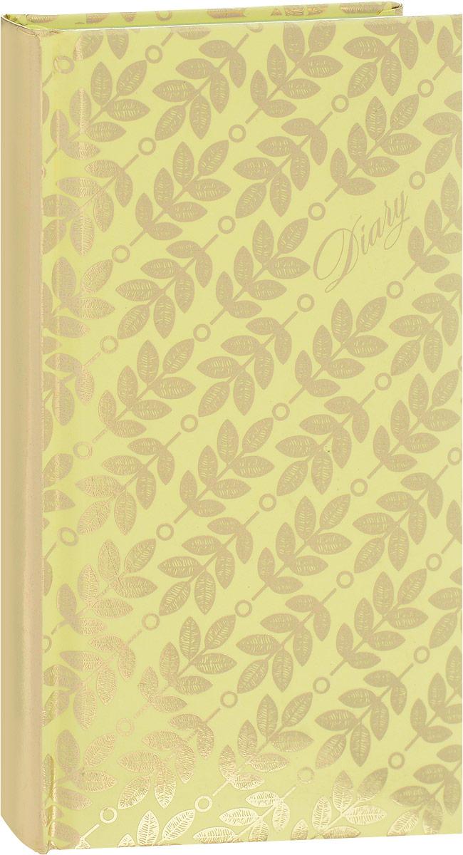 Феникс+ Ежедневник Листья 120 листов72523WDЕжедневник Феникс+ Листья - это один из удобных способов систематизации всех предстоящих событий и незаменимый помощник для каждого. Обложка выполнена из твердого переплета, картон с поролоном, желтого цвета с рисунком из фольги в виде листочков. Обложка имеет золотистый срез. Ежедневник имеет ляссе.Внутренний блок включает 120 листов офсетной бумаги без линовки пяти разных цветов: желтый, розовый, голубой, фиолетовый, зеленый. Все планы и записи всегда будут у вас перед глазами, что позволит легко ориентироваться вграфике дел, событий и встреч.