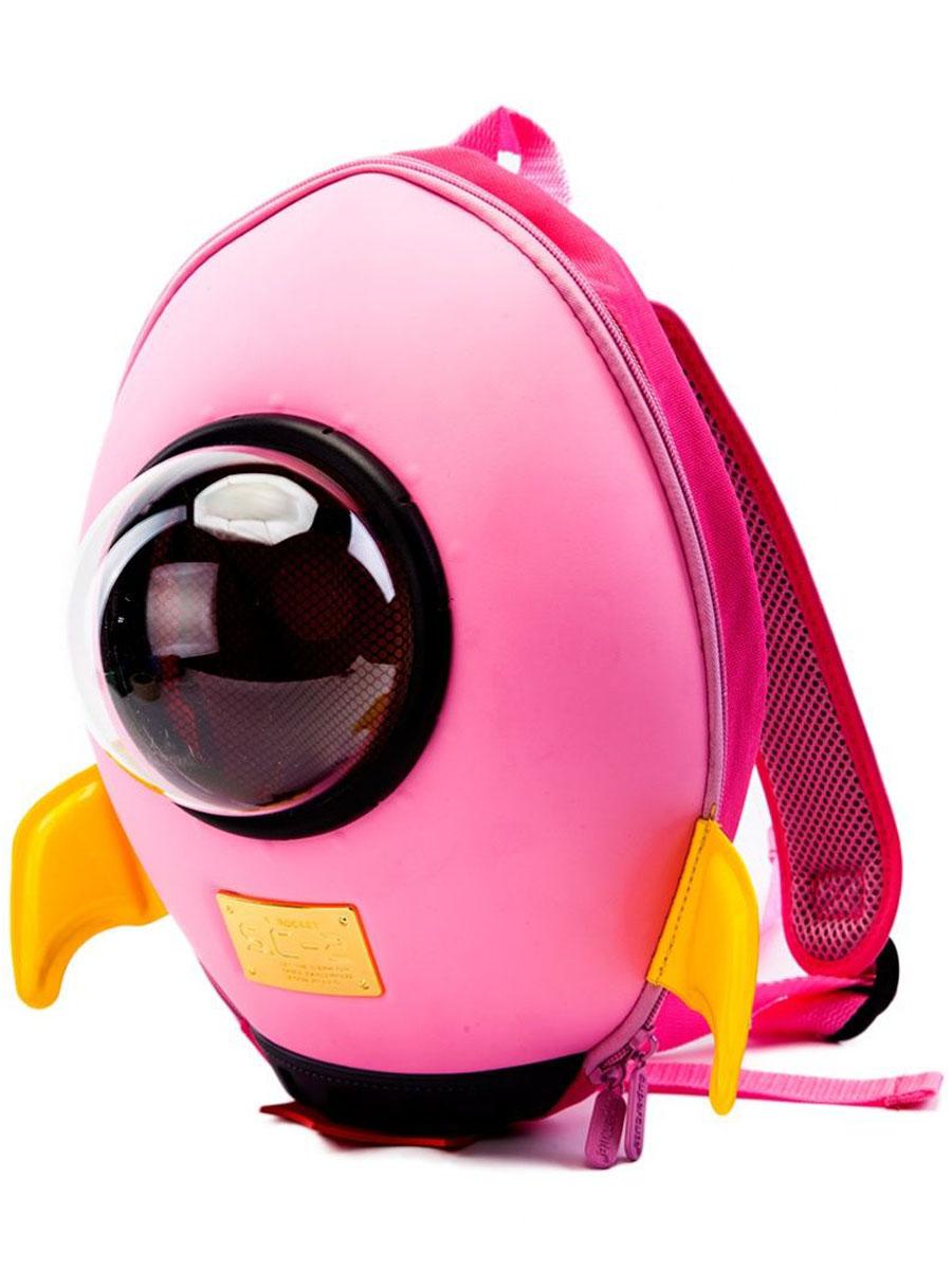 Забавный ранец в виде ракеты придется по душе любому ребенку. Малогабаритный, но очень вместительный и прочный рюкзак позволит малышке носить все необходимое при себе, кроме того, в ранце предусмотрен специальный прозрачный иллюминатор.