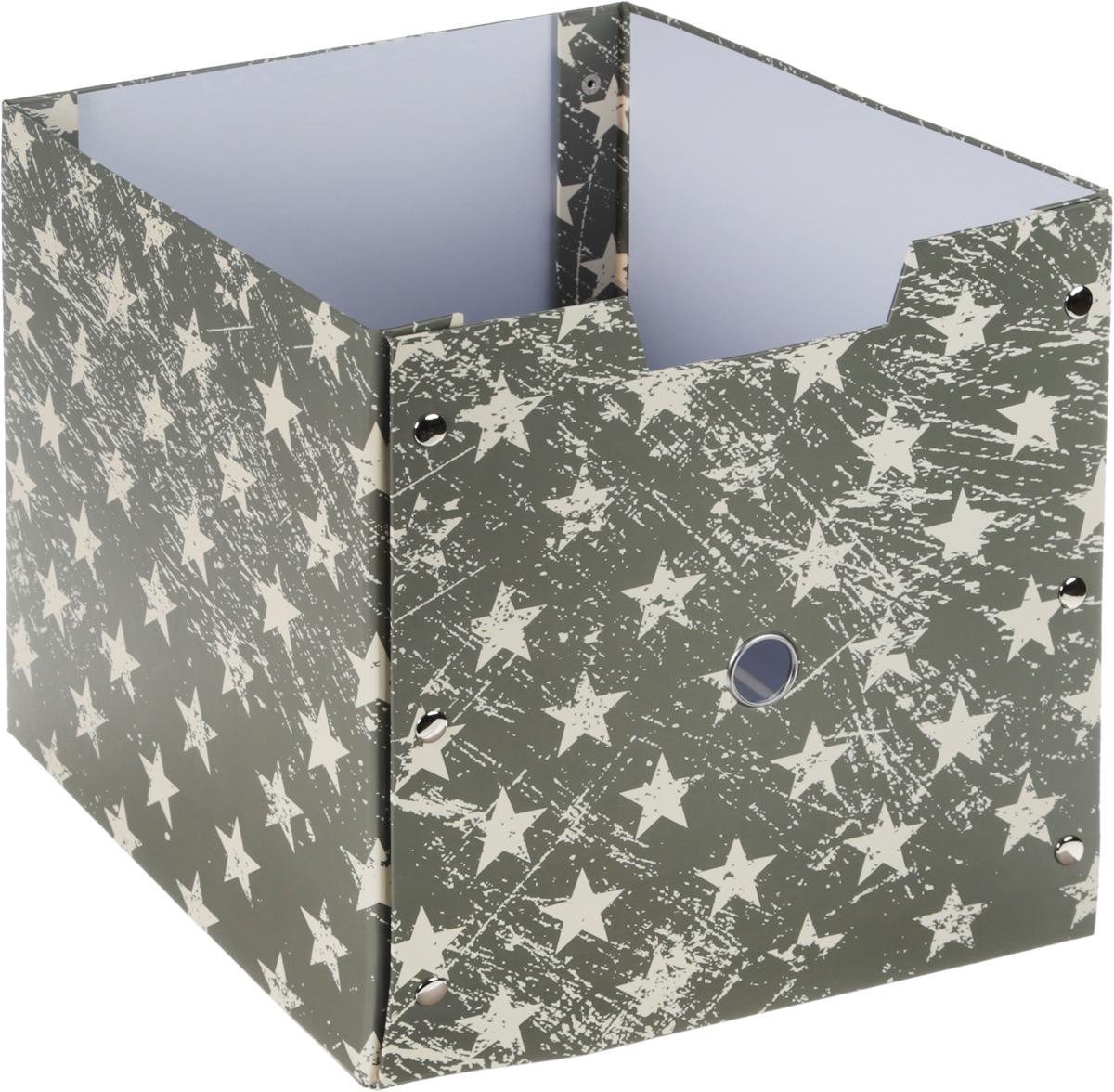 Коробка для хранения, складная, цвет: хаки, бежевый, 30,5 х 30 х 274-0060Коробкадля хранения изготовлена из высококачественного плотного картонаи оформлена оригинальным принтом. Она предназначена для хранения различных мелочей. Изделие легко собирается с помощью металлических креплений и не занимает много места. Такая коробка для хранения идеальное решение для аккуратного хранения различных ниток, канцелярских товаров.Размер коробки (в собранном виде): 30,5 х 30 х 2 см.