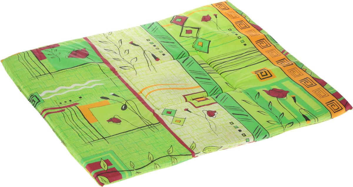 Лежак для животных Elite Valley Матрасик, цвет: зеленый, 50 х 65 см. Л7/60120710Лежак для животных Elite Valley Матрасик изготовлен из высококачественной бязи и оформлен оригинальным принтом. Наполнение выполнено из поролона, обеспечивающего тепло и мягкость.Идеален для переносок и использования в автомобиле. Он станет излюбленным местом вашего питомца, подарит ему спокойный и комфортный сон. Высота матраса: 2,5 см.