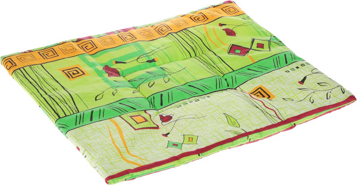 Лежак для животных Elite Valley Матрасик, цвет: зеленый, 45 х 60 см. Л16/50120710Лежак для животных Elite Valley Матрасик изготовлен из высококачественной бязи и оформлен оригинальным принтом. Наполнение выполнено из синтепона, обеспечивающего тепло и мягкость.Идеален для переносок и использования в автомобиле. Он станет излюбленным местом вашего питомца, подарит ему спокойный и комфортный сон. Высота матраса: 2 см.