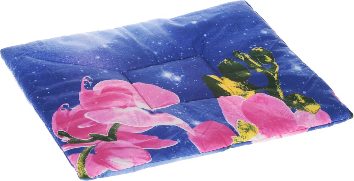 Лежак для животных Elite Valley Матрасик, цвет: фиолетовый, 40 х 55 см. Л16/40120710Лежак для животных Elite Valley Матрасик изготовлен из высококачественной бязи и оформлен оригинальным принтом. Наполнение выполнено из синтепона, обеспечивающего тепло и мягкость.Идеален для переносок и использования в автомобиле. Он станет излюбленным местом вашего питомца, подарит ему спокойный и комфортный сон. Высота матраса: 2,5 см.