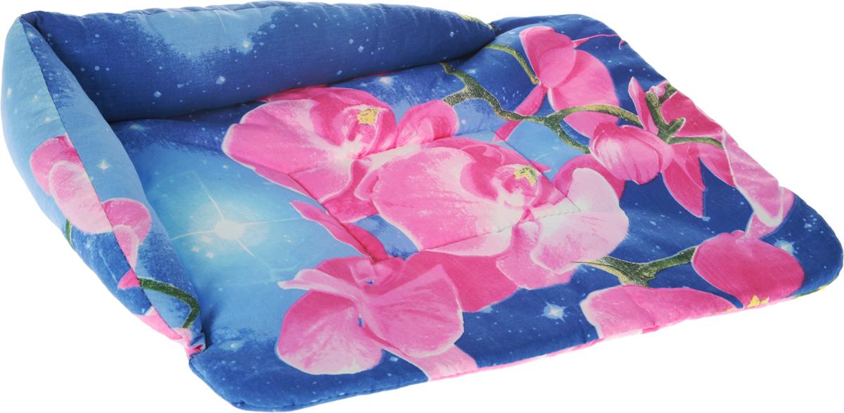 Лежак для животных Elite Valley Софа, цвет: фиолетовый, 56 х 44 х 13 см. Л5/3Л11/1 Лежак полузакрытый люлька _ стамбул зеленый, материал бязь, поролонЛежак для животных Elite Valley Матрасик изготовлен из высококачественной бязи и оформлен оригинальным принтом. Наполнение выполнено из холофайбера, обеспечивающего тепло и мягкость. Лежак имеет угловую спинку.Идеален для переносок и использования в автомобиле. Он станет излюбленным местом вашего питомца, подарит ему спокойный и комфортный сон. Высота матраса с учетом спинки: 13 см.Высота матраса: 2 см