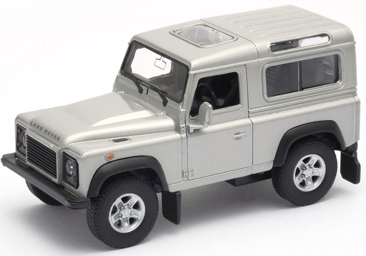 Welly Модель автомобиля Land Rover Defender цвет белый