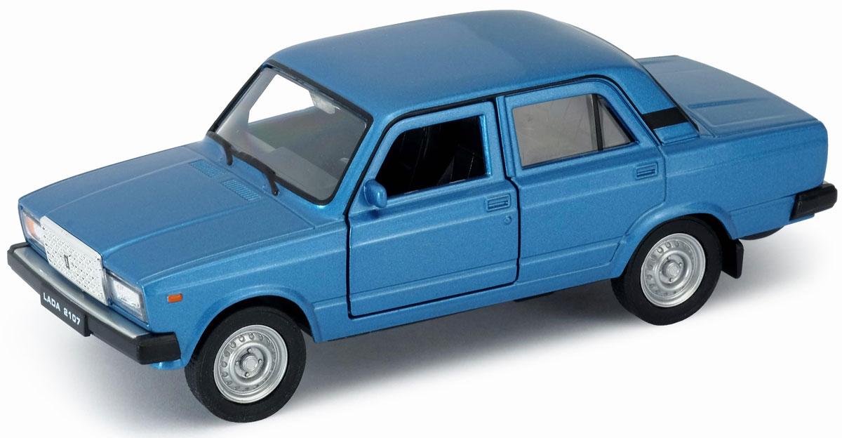 Welly Модель автомобиля LADA 2107 цвет синий welly модель автомобиля audi r8 v10 цвет красный