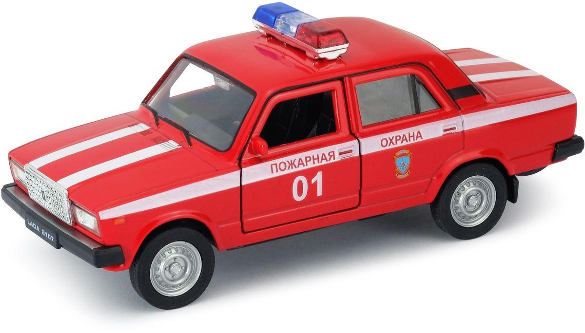 Welly Модель автомобиля LADA 2107 Пожарная охрана welly модель автомобиля audi r8 v10 цвет красный