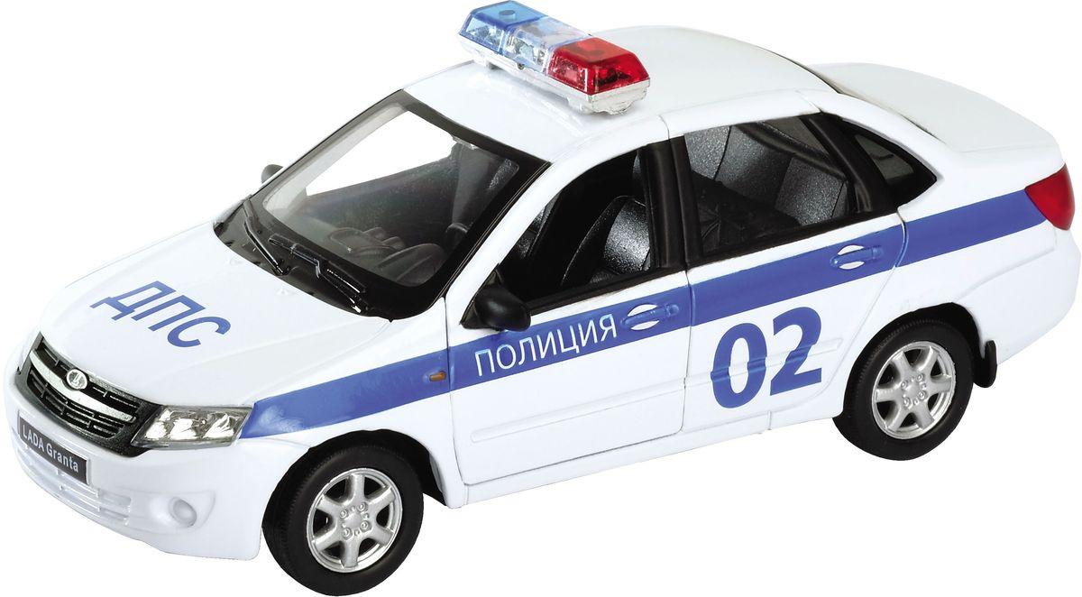 Welly Модель автомобиля LADA Granta Полиция welly модель автомобиля audi r8 v10 цвет красный