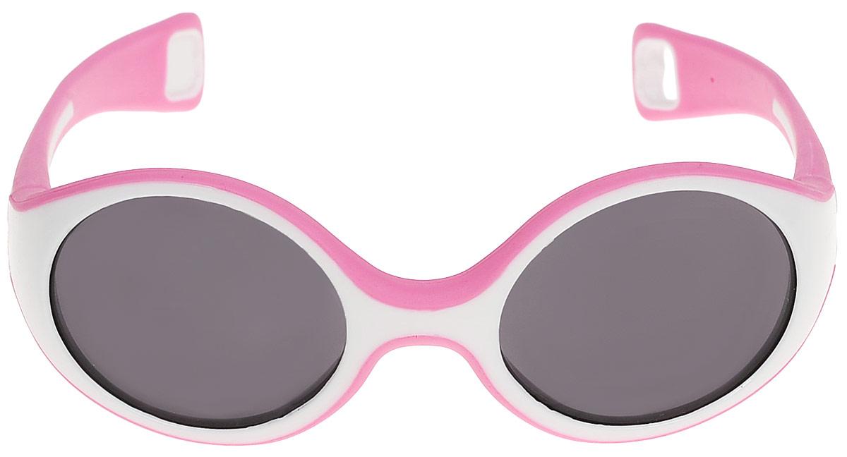 Beaba Солнцезащитные очки детские Sunglasses Baby 360 S категория 3 цвет розовыйINT-06501Детские очки Baby S Beaba - идеальная защита от агрессивных УФ лучей.Детские очки Baby S Beaba 3 категории защитят кроху от УФ лучей при любых обстоятельствах: на прогулке, на море, в горах.Качество и безопасность с оптимальной защитой от ультрафиолетовых лучей (UVA, UVB) - 3 категория.Эргономичная оправа 360°. Специально разработанная из двух дополняющих друг друга материалов гибкая оправа повторяет морфологию головы малыша, не давит за ушами. Благодаря более нежному внутреннему слою, очки не давят на нос. Основа – полипропилен и СЕБС. Небьющиеся стекла. С 9 месяцев для ребенка, сидящего в коляске. Сделано во ФранцииОфтальмологи со всего мира все чаще говорят о необходимости защиты детских глаз от агрессивного солнца. Данная тенденция ничуть не является данью моде, а становится острой необходимостью, которую врачи осознали благодаря современным исследованиям.