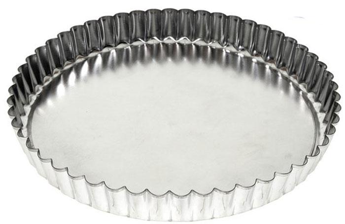 Форма для выпечки пирога Мультидом, круглая, разъемная, диаметр 22 см54 009312Кулинарные формы - удобное и незаменимое приспособление для любителей выпечки. Форма имеет съемное дно, поэтому вынимать из нее готовую выпечку очень легко и удобно. Необходимо лишь вставить дно в форму, залить или выложить в нее тесто и выпекать в соответствии с вашим рецептом. Использование этой формы значительно сократит время, затрачиваемое на выпечку.После использования легко и быстро моется. Подходит для использования в духовках. Не подходит для использования в СВЧ.Можно мыть в посудомоечной машине.Изготовлено из луженой стали.Диаметр: 22 см. Высота: 2,8 см.