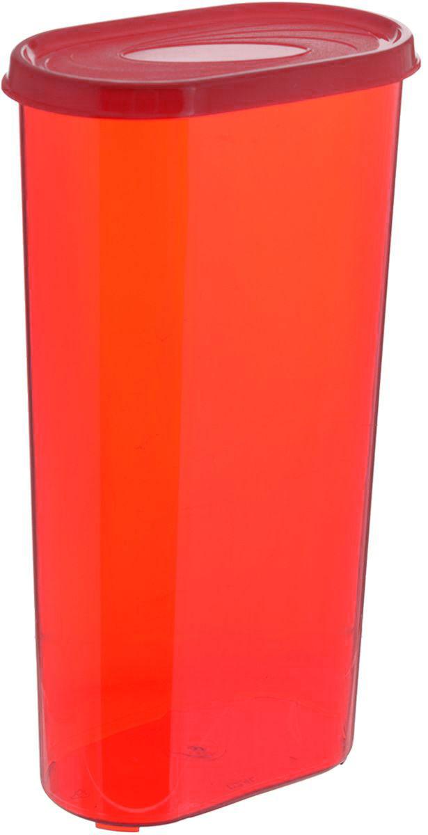 Банка для сыпучих продуктов Giaretti, цвет: красный, 2,4 лFD-59Банка для сыпучих продуктов Giaretti выполнена из высококачественного пластика. Банка предназначена для хранения круп, сахара, макаронных изделий и в том числе для продуктов с ярким ароматом (специи и прочее). Плотно прилегающая крышка не пропускает запахи содержимого в шкаф для хранения, при этом продукт не теряет своего аромата. Банки легко устанавливаются одна на другую. Можно мыть в посудомоечной машине. Объем: 2,4 л. Размер (по верхнему краю): 14,5 x 8,5 см.Высота (с учетом крышки): 28 см.