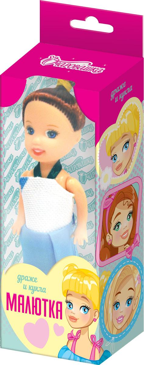 Малютки фруктовое драже с игрушкой, 5 г7.21.10Кукла упакована в картонную коробочку с окошком. 3 варианта платья.