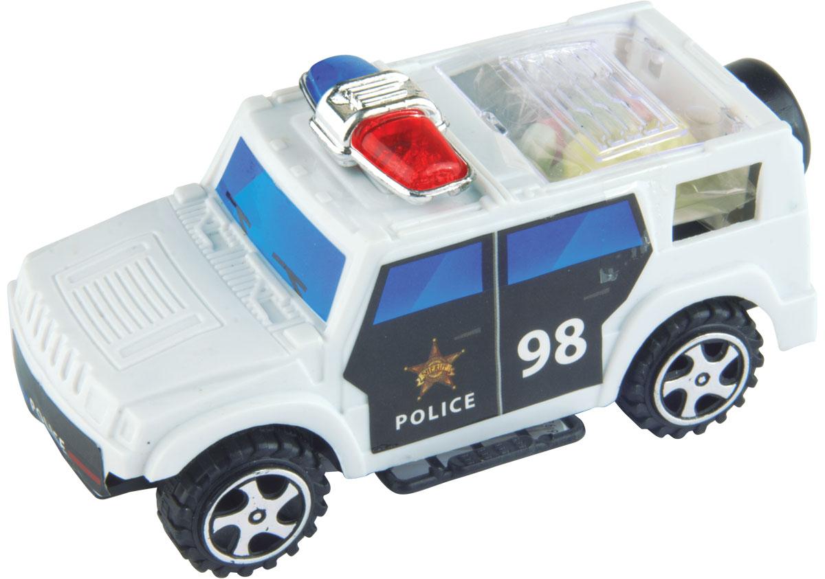 Полицейская машина фруктовое драже с игрушкой, 5 г0120710Полицейская машинка: 3 формы машинки, 2 цвета машинок: черная и белая. Колеса у машинки крутятся.