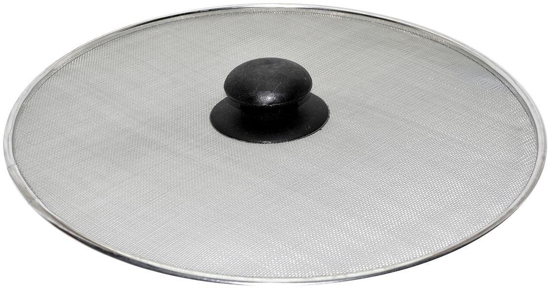 Брызгогаситель Мультидом, диаметр 28 см54 009312Защищает от брызг кипящего масла. Изготовлено из стальной сетки с коррозионностойким (хромированным) покрытием, ручка из стали со ставкой термостойкого пластика. Диаметр 28 см.