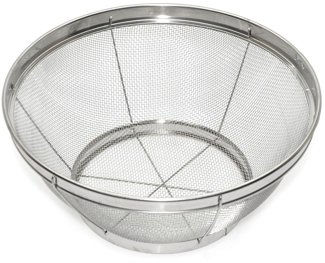 Сито Мультидом, на подставке, диаметр 25 смW26040017_голубойИспользуется для промывания овощей, фруктов, ягод, макаронных изделий; для процеживания бульонов, компотов, отваров трав и т.п.Изготовлено из нержавеющей стали.Диаметр 25 см.