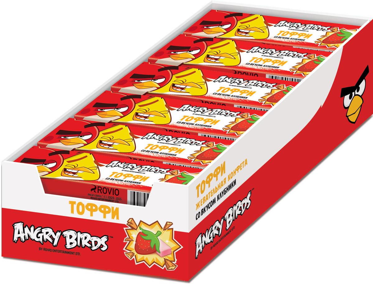 Angry Birds фруктовая жевательная конфета, 24 шт по 25 г0120710Жевательная конфета в форме кубиков, каждая упакована в бумажную обертку.