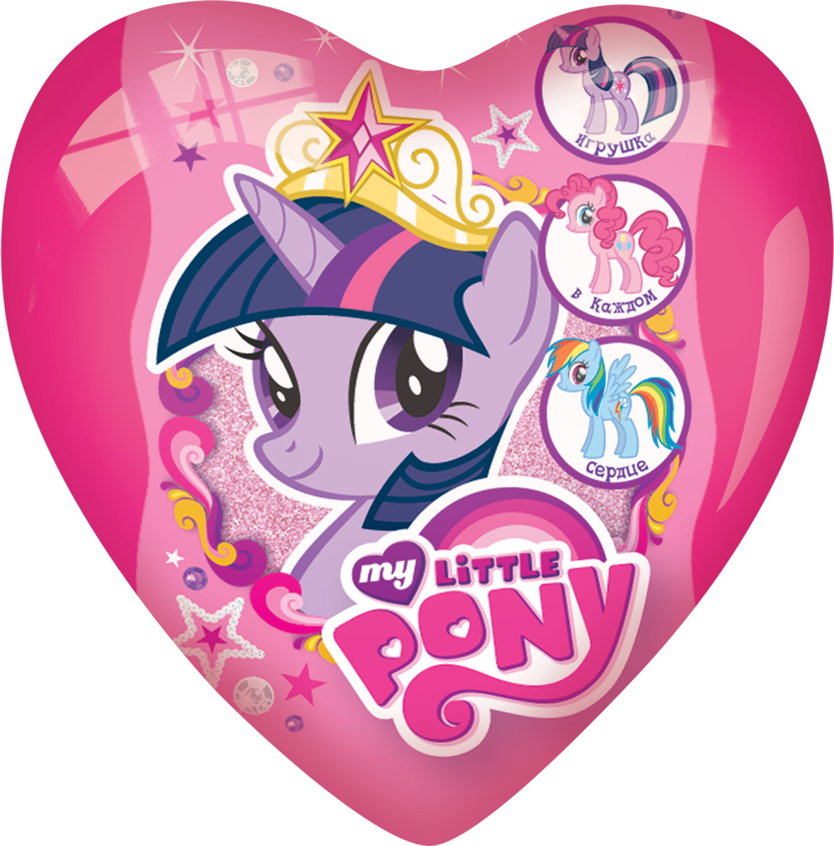 My Little Pony фруктовое драже с игрушкой, 20 г0120710Пластиковые сердца представляют собой фигурную капсулу, состоящую из 2 половинок. В капсулу вкладываются: 3D игрушка в отдельном пакете или капсуле с лифлетом, драже.