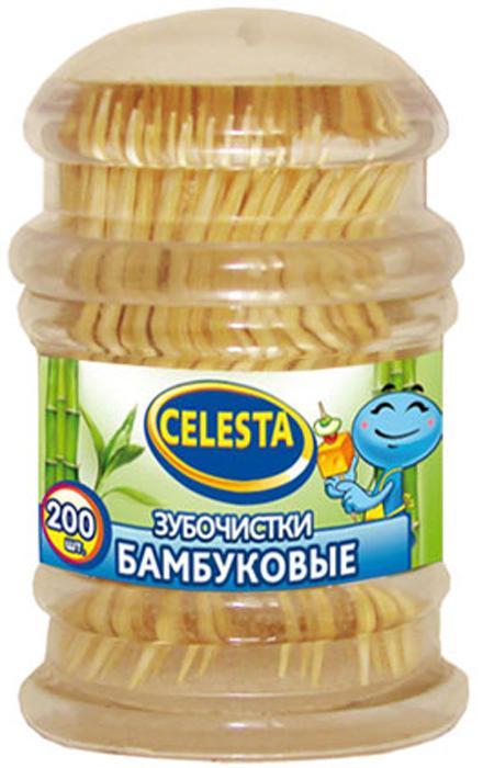 Зубочистки Celesta, бамбуковые, 200 шт13235Изготовлены из бамбука. Предназначены для чистки зубов, так же используются в кулинарии.
