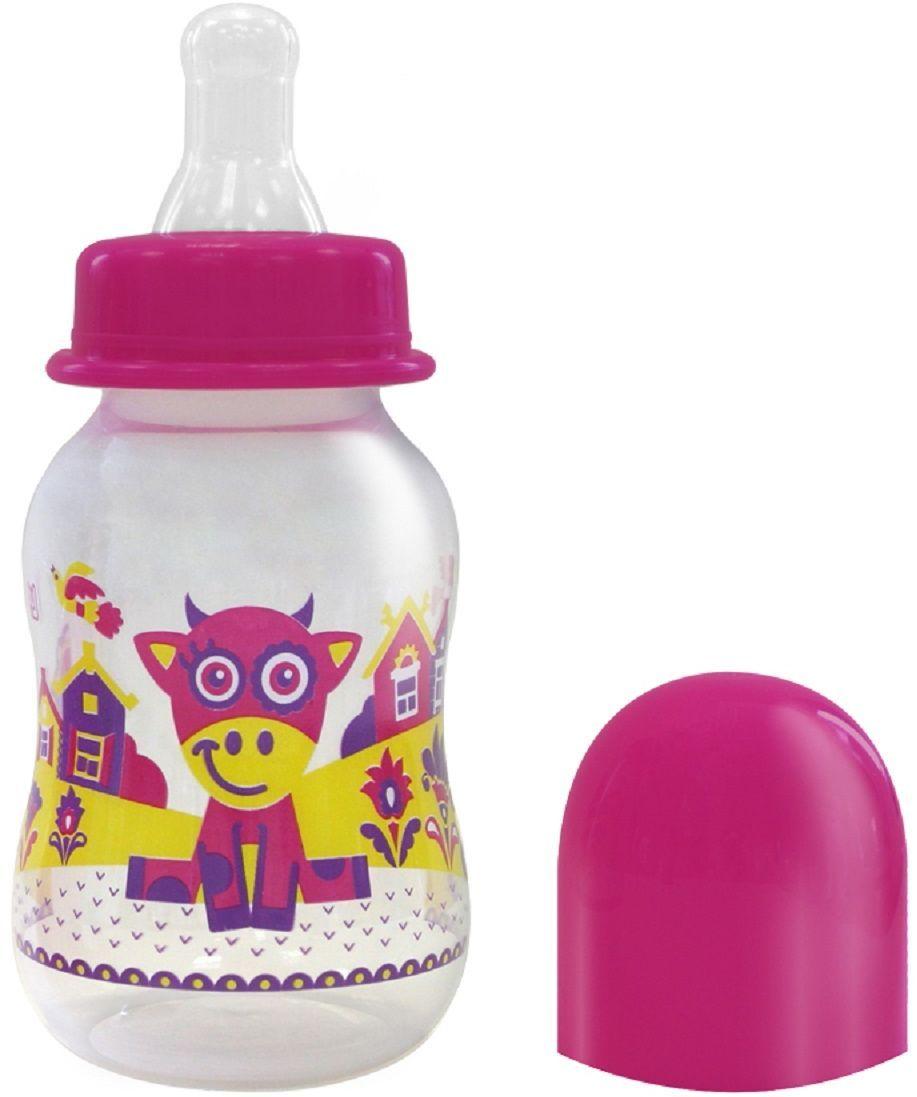Lubby Бутылочка для кормления с силиконовой соской Русские мотивы от 0 месяцев 120 мл