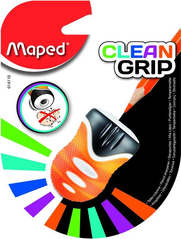 Maped Точилка Clean GripFS-36054Точилка 1 отверстие, с контейнером, с автоматической защитной шторкой, с мягкий зоной обхвата.