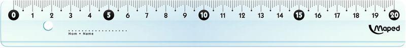 Maped Линейка Start 20 см72523WDStart Линейка 20 см, узкая, высококачественная градуировка - УФ чернила.