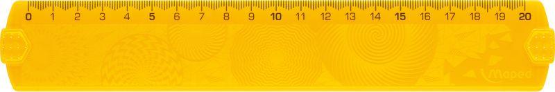 Maped Линейка Geocustom 20 смFS-36054Линейка 20 см, рельефная поверхность, высококачественная градуировка - УФ чернила, непачкающиеся края, цветная.