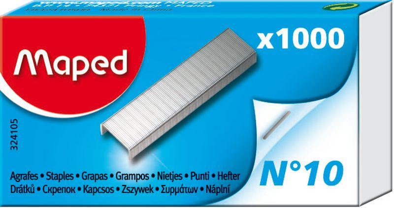 Maped Скобы для степлера №10 1000 шт0102016Скобки из высококачественной стали №10, 1000шт, в коробке.