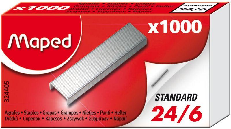 Maped Скобы для степлера №24/6 1000 шт1029981Скобки из высококачественной стали 24/6, 1000шт, в коробке.