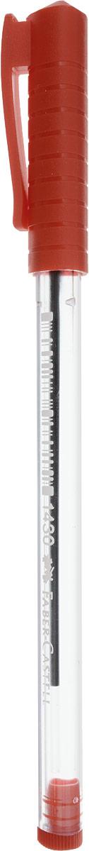 Faber-Castell Ручка шариковая 1430 цвет чернил красный72523WDШариковая ручка Faber-Castell 1430 эргономичной трехгранной формы станет незаменимым атрибутом учебы или работы. Прозрачный корпус ручки выполнен из пластика. Цвет вентилируемого колпачка соответствует цвету чернил.Высококачественные чернила позволяют добиться идеальной плавности письма.