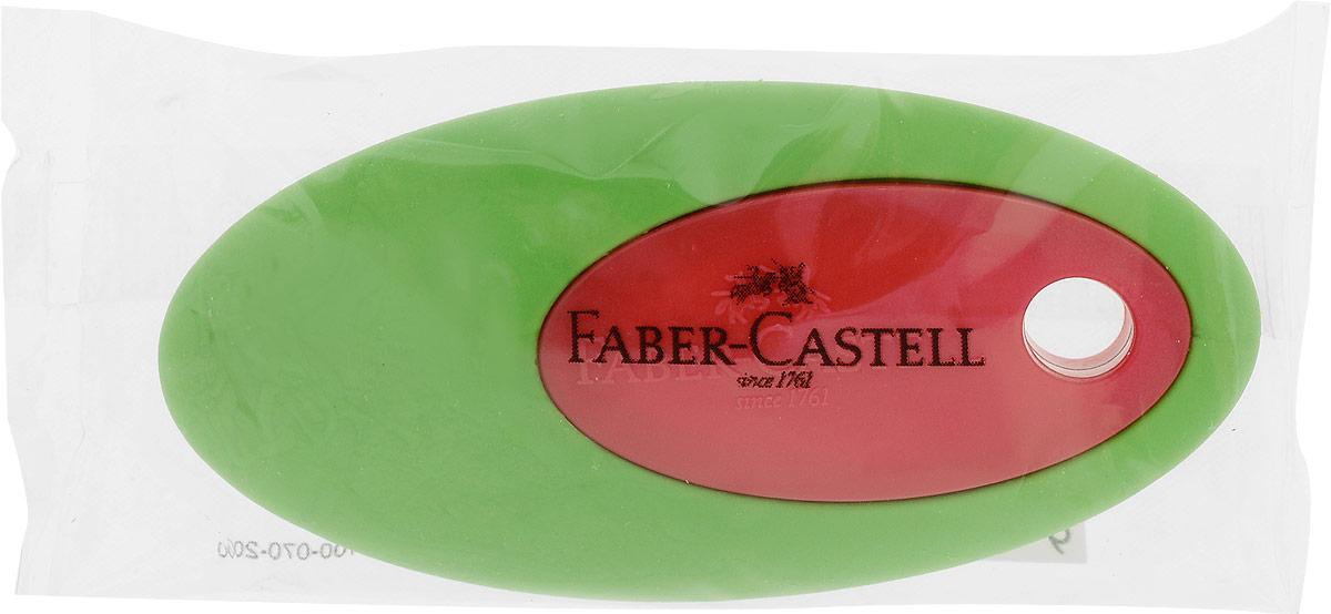 Faber-Castell Ластик цвет зеленый красныйFS-36055Ластик Faber-Castell пригоден для графитных карандашей. Имеет овальную форму с пластиковой вставкой в центре.Не содержит ПВХ.