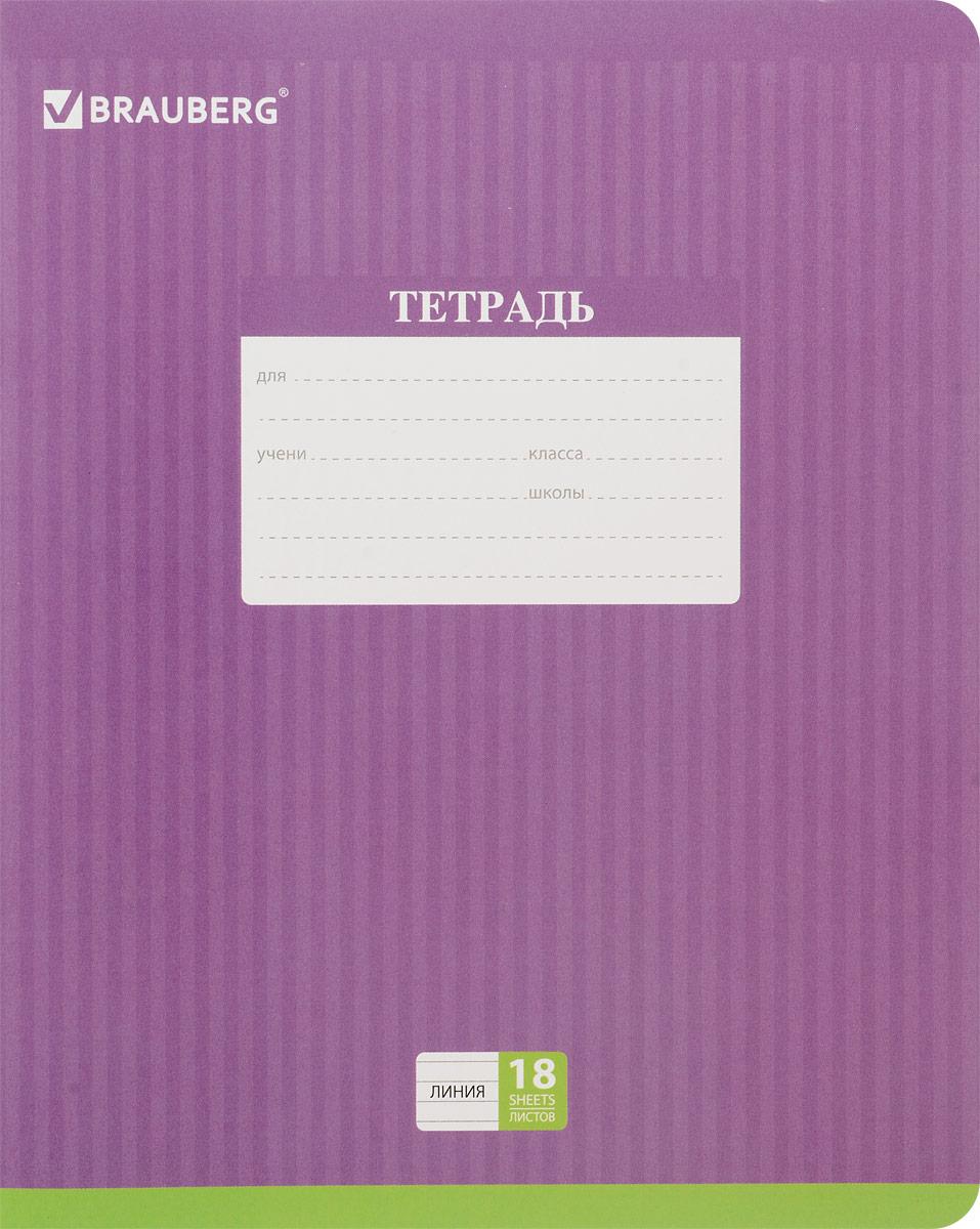 Brauberg Тетрадь Hide-and-Seek 18 листов в линейку цвет фиолетовый401860_фиолетовыйОбложка тетради Brauberg Hide-and-Seek с закругленными углами выполнена из плотного картона, что позволит сохранить ее в аккуратном состоянии на протяжении всего времени использования. На задней обложке находится русский алфавит.Внутренний блок тетради, соединенный двумя металлическими скрепками, состоит из 18 листов белой бумаги. Стандартная линовка в линейку голубого цвета дополнена полями.