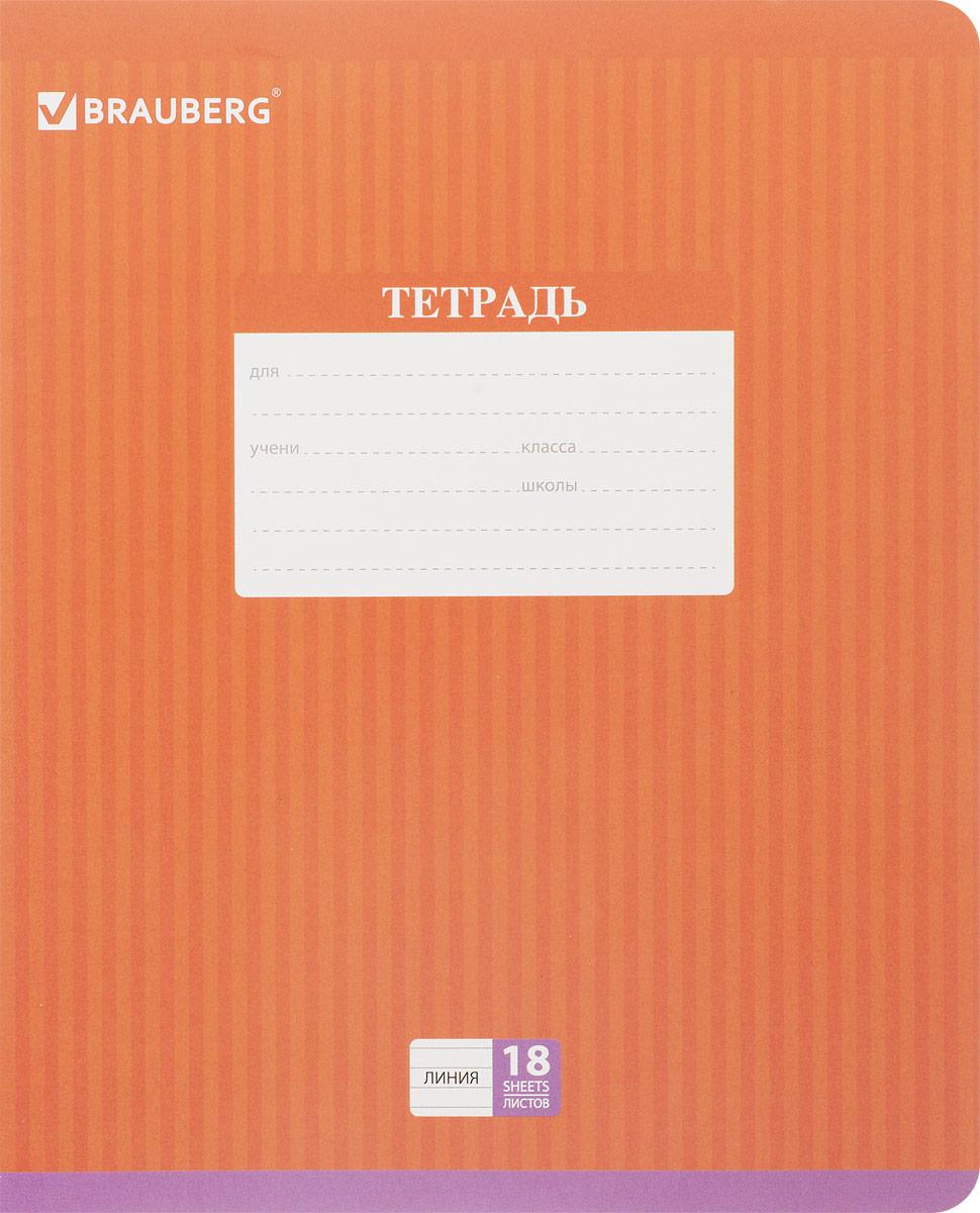 Brauberg Тетрадь Hide-and-Seek 18 листов в линейку цвет оранжевый72523WDОбложка тетради Brauberg Hide-and-Seek с закругленными углами выполнена из плотного картона, что позволит сохранить ее в аккуратном состоянии на протяжении всего времени использования. На задней обложке находится русский алфавит.Внутренний блок тетради, соединенный двумя металлическими скрепками, состоит из 18 листов белой бумаги. Стандартная линовка в линейку голубого цвета дополнена полями.